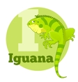 ABC Cartoon Iguana vector image vector image