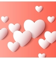 Abstract 3D Paper Heart Shapes background vector image vector image
