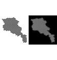 armenia map hexagon scheme vector image vector image
