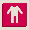baby clothes sign grayscale version of vector image vector image