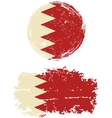 Bahraini round and square grunge flags vector image vector image