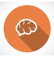 Brain icon vector image