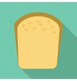 Bread icon flat style vector image vector image