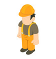 builder person icon isometric 3d style vector image vector image