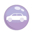 car vehicle button icon vector image