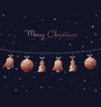 Christmas and new year copper decoration ornaments