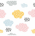 clouds seamless stylized pattern with clouds for vector image vector image