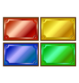 colored metallic plaques vector image vector image