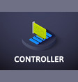 controller isometric icon isolated on color vector image vector image