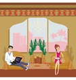 couple relaxing at home vector image vector image