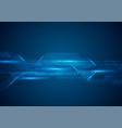 dark blue technology futuristic background vector image vector image