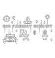 eco friendly concept ecology ideas vector image