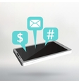 Flat of modern Mobile phone vector image vector image