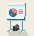 Flip Chart With Pie Graph vector image