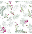 floral seamless pattern garden flower bouquet vector image