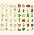food and drink icons fruits and vegetables food vector image vector image