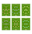 football play scheme tactics vector image vector image