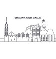 germany halle saale line skyline vector image vector image