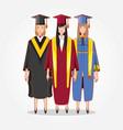 graduate women avatars characters vector image vector image