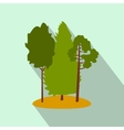 Green forest flat icon vector image vector image