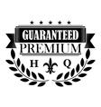 Guaranteed premium banner in retro style vector image vector image