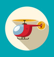 Helicopter flat design symbol icon vector image