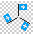 hospital flags icon vector image vector image