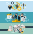 Human resources flat banners set vector image vector image