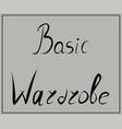 inscription wardrobe hangers fashion vector image vector image