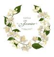 Jasmine flowers wreath vector image vector image