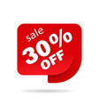 label sale special offer red promo sticker of vector image vector image