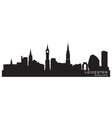 Leicester England skyline Detailed silhouette vector image vector image