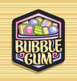 logo for bubble gum vector image vector image