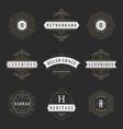 luxury logos templates set flourishes vector image vector image