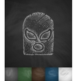 mask fighter icon Hand drawn vector image