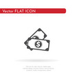 money icon for web business finance and vector image