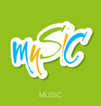 music lettering template vector image vector image