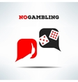 no gambling dialog sign background Gaming vector image