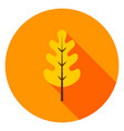 oak leaf circle icon vector image vector image