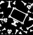 pattern of bones vector image