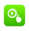 play video icon green vector image