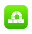 playground slider water tube icon digital green vector image