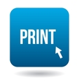 Print word icon in simple style vector image