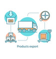 products export concept icon vector image vector image