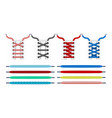 realistic shoelace colorful shoelaces for white vector image vector image