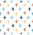 seamless pattern with color flat planes vector image vector image