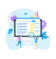search engine result page vector image vector image