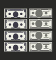 set of dollar banknotes vector image vector image