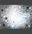 silver background with stars vector image vector image
