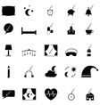 sleeping icon set vector image